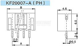 Connector for PCB mounting male, VF20007-2А, 2 pins - 2