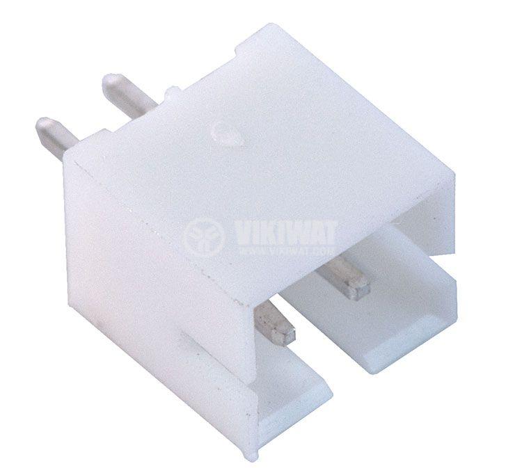 Конектор за печатен монтаж мъжки, VF20007-2А, 2 пина - 1