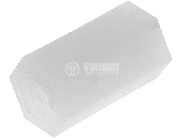 Screwed spacer sleeve, FIX-HP4-10, polyamide, M4, 10mm