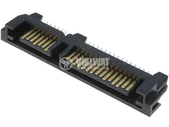Connector, SATA-M22P-T, male, PIN22