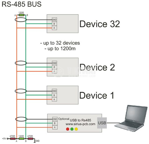 Converter from USB to RS485 - 2