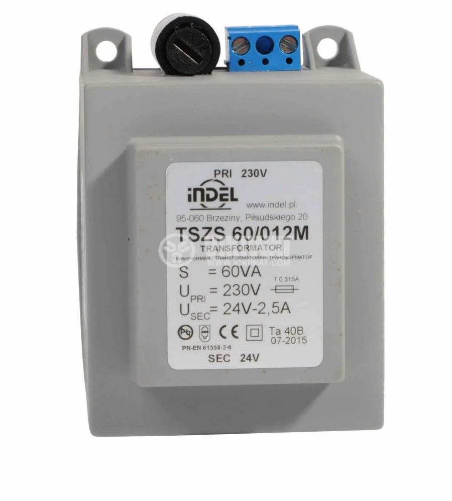 Трансформатор за DIN шина 230/24VAC, 60VA - 1