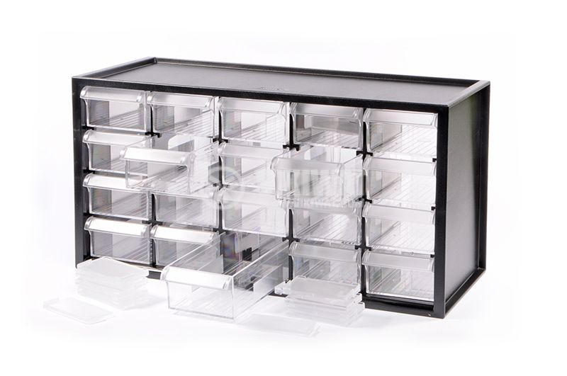 Small parts organizer 20 box - 1
