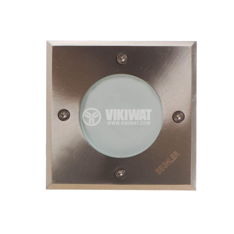 LED осветително тяло за вграждане в земя BT30-0112, 1.2W, 220VAC, IP67, 6400K, 105x105mm - 2