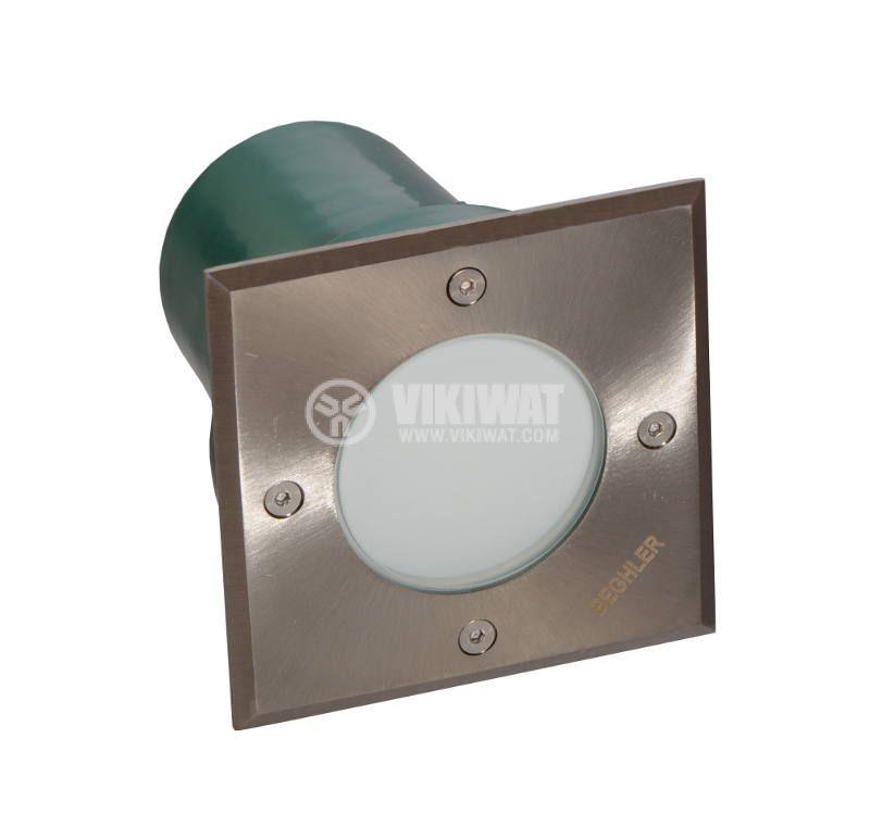 LED осветително тяло за вграждане в земя BT30-0112, 1.2W, 220VAC, IP67, 6400K, 105x105mm - 3