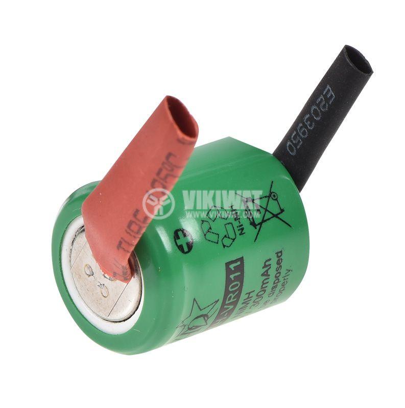 Батерия 1.2V 1/3АА 300mAh Ni-Mh с пластини - 2
