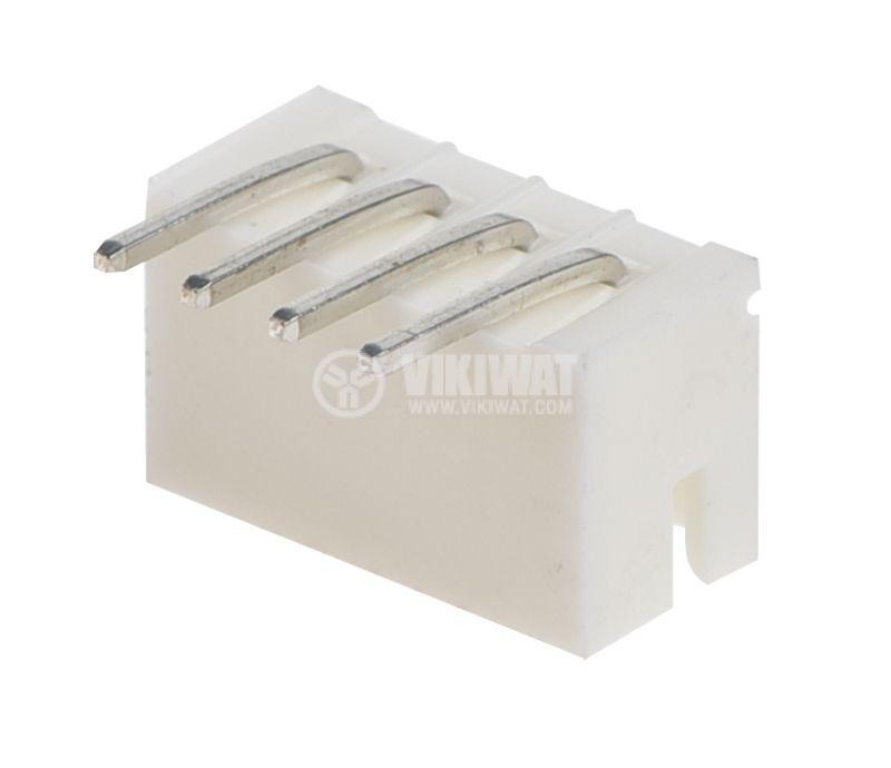 Конектор за печатен монтаж мъжки, VF20007-4WА, 4 пина - 2