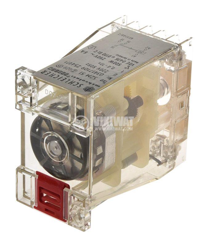 Time relay SZM 51, analog, 250V, 6A, SPST NO, 0.4sec - 10sec - 3