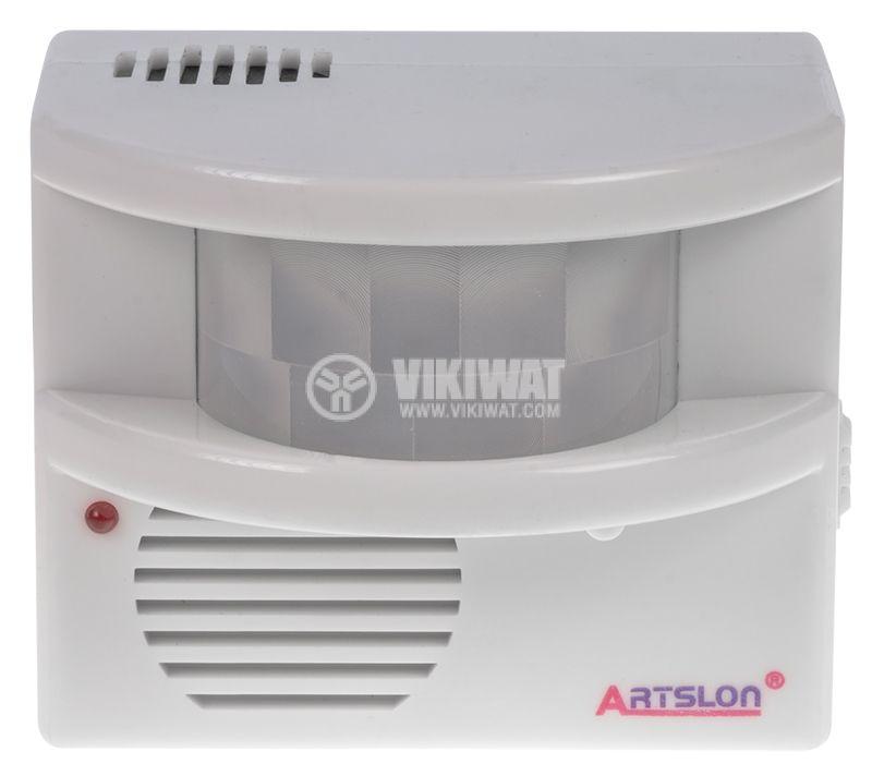 Alarm with PIR Sensor, 12VDC / 3xAA - 2