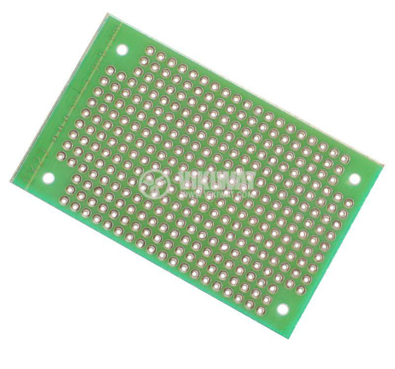 Universal PCB, single sided, EX23, 40x65mm, 2.54mm
