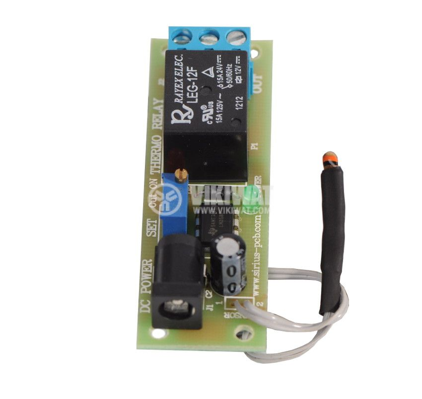Thermostat Thermo Relay, 10 ° to 65 ° C, 250VAC, 8A