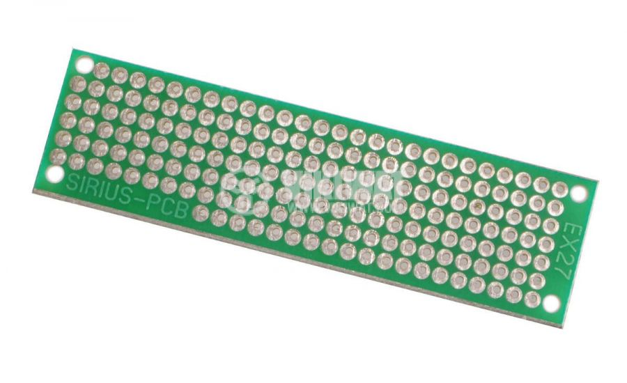 Universal PCB, single sided, EX27, 20x73mm, 2.54mm