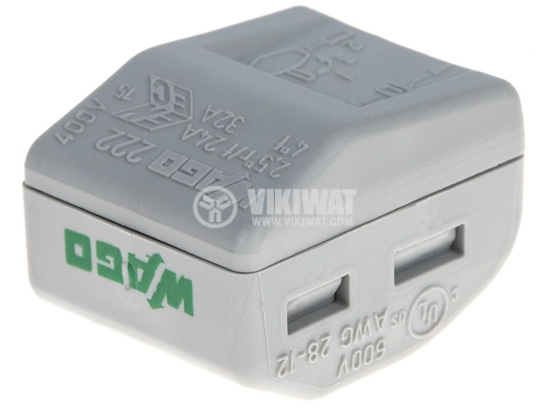 Клема 400V 32A, 0.8~2.5mm2, пластмаса - 3