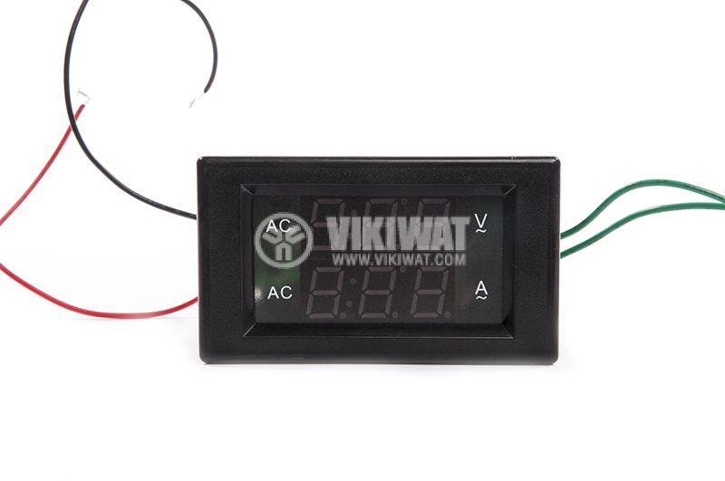Volt-ammeter 500VAC / 100A - 3