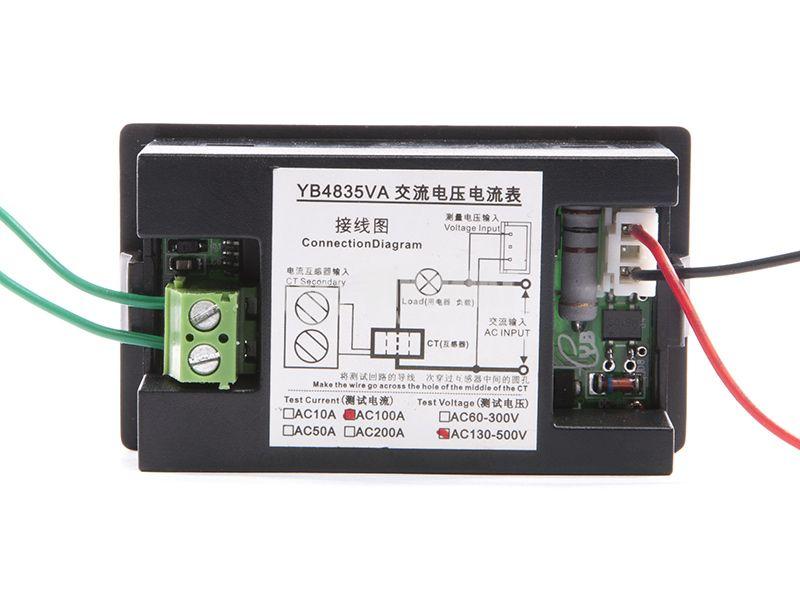 Volt-ammeter 500VAC / 100A - 4