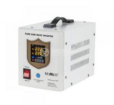 Инвертор със зарядно KEMOT URZ3405, UPS, 12VDC-220VAC, 500W, истинска синусоида