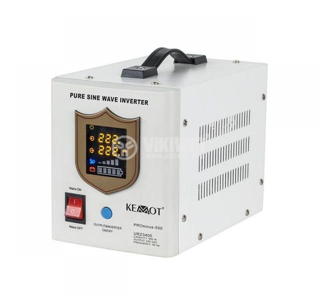 Инвертор със зарядно KEMOT URZ3405, UPS, 12VDC-220VAC, 500W, истинска синусоида - 1