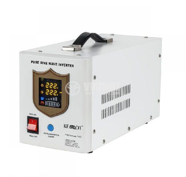 Инвертор със зарядно KEMOT URZ3406, UPS, 12VDC-220VAC, 700W, истинска синусоида - 1