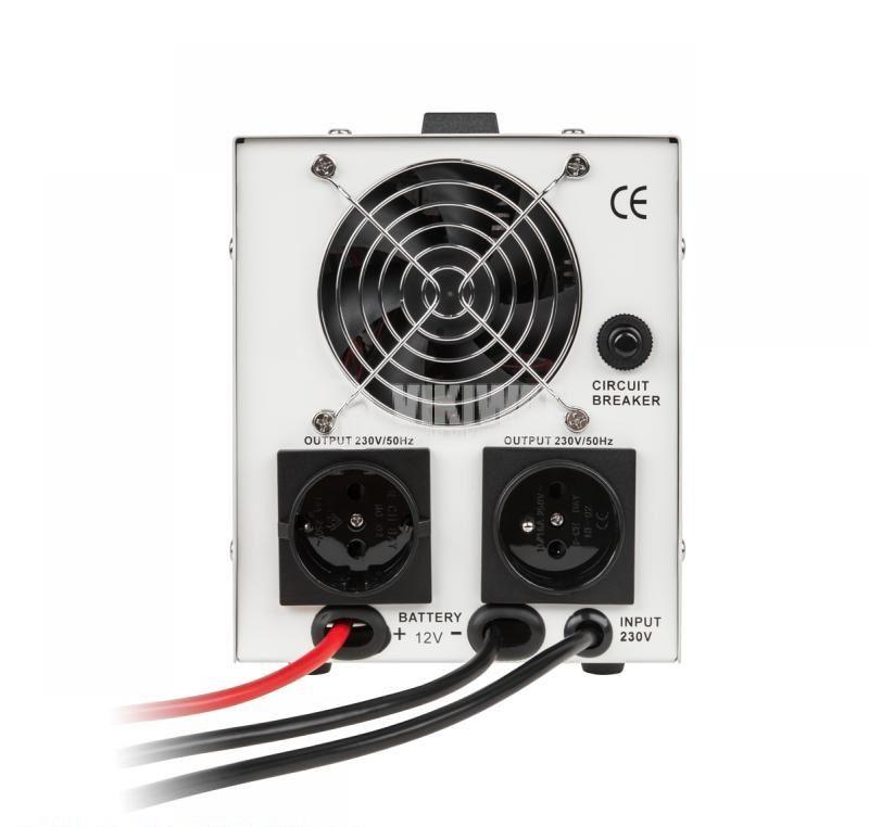 Инвертор със зарядно KEMOT URZ3406, UPS, 12VDC-220VAC, 700W, истинска синусоида - 2