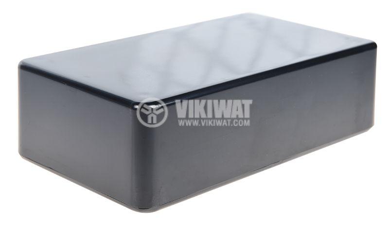 Кутия CP-Z-77/B, пластмасова, черна, 71.5x124x38mm