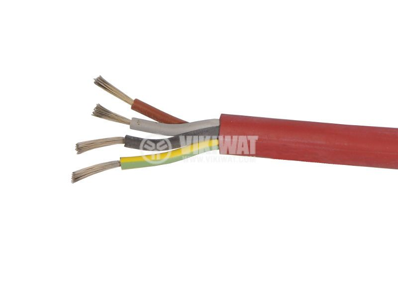 SIHF cable, heat resistant, silicone 4x0.75mm2 at Best price - Vikiwat
