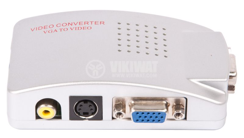Converter Video and S-Video (BNC) to VGA - 3