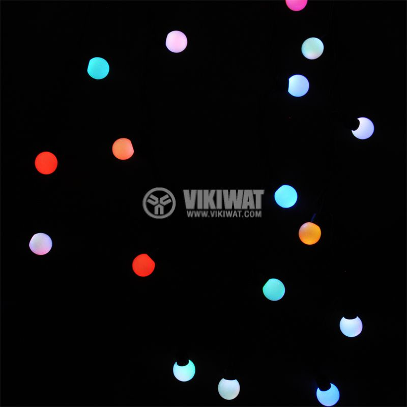 LED christmas lights type rope with balls, 5.5m, 50LEDs, colored - 4