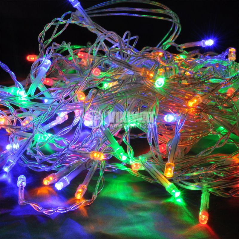 Christmas lights BL437, 2.4m, 15W, cold white, IP44, 192 LEDs, outdoor installation - 2