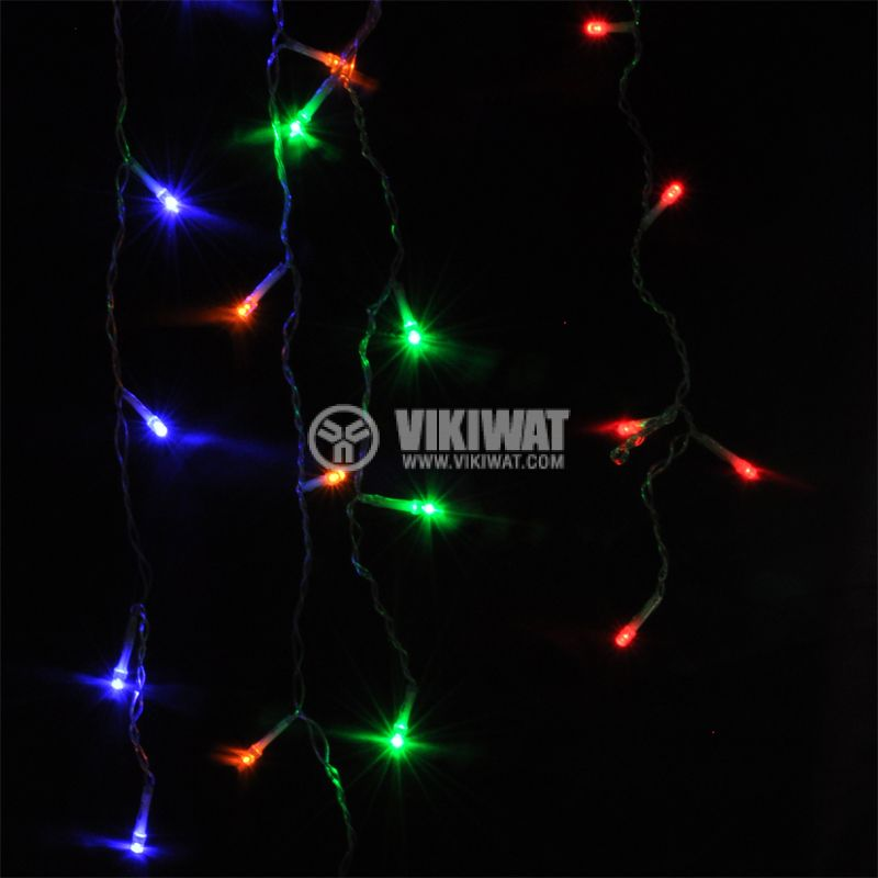 Christmas lights BL437, 2.4m, 15W, cold white, IP44, 192 LEDs, outdoor installation - 3