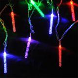 Коледна украса тип висулки L2001, 4m, 5W, цветна (RGB), IP44, 120 LED, външен монтаж