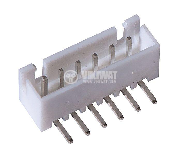 Конектор за печатен монтаж мъжки, VF25003-6WA, 6 пина - 1