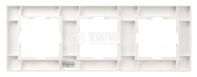 Triple frame, Panasonic, horizontal, 80x225mm, white - 2