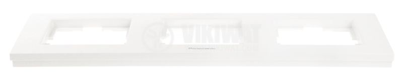 Triple frame, Panasonic, horizontal, 80x225mm, white - 3