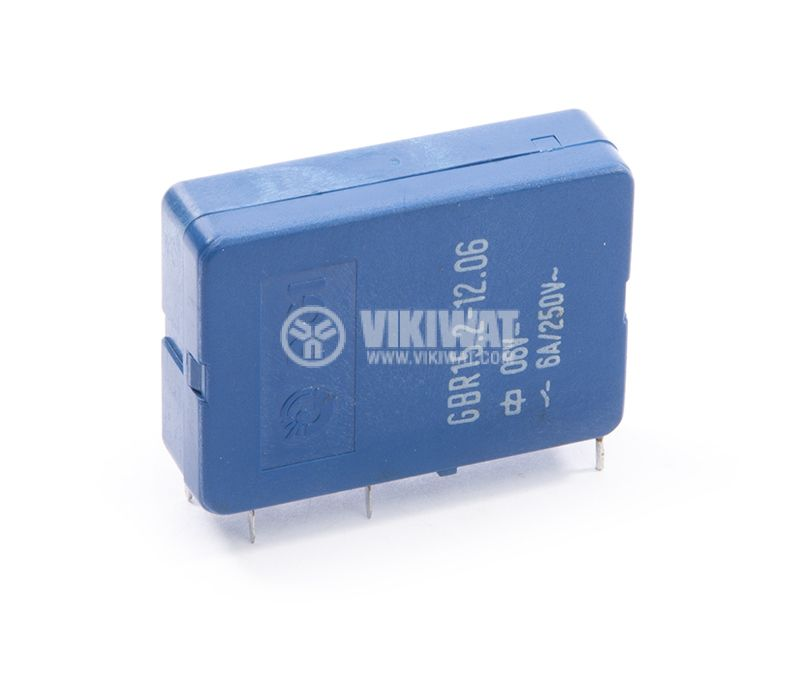 Electromecanical relay GBR15.2-12.06, 6VDC, 6A, 250VAC, 2NO+2NC, DPDT  - 1