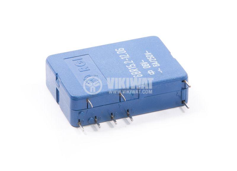 Electromecanical relay GBR15.2-12.06, 6VDC, 6A, 250VAC, 2NO+2NC, DPDT  - 2
