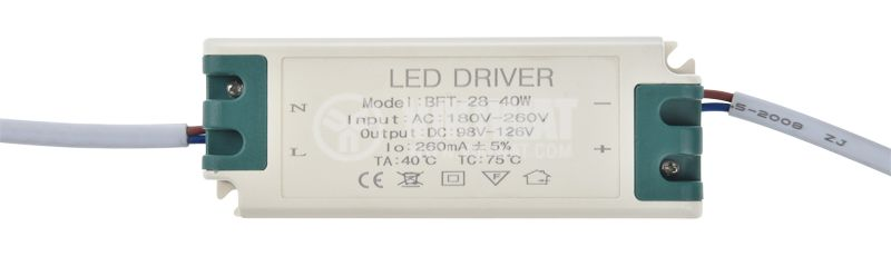 Power LED Driver 98-126VDC, 260mA, IP20 - 1