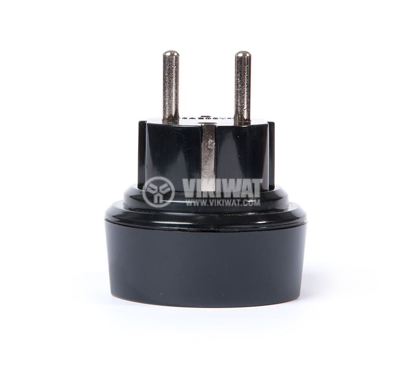 Travel Adapter BS1363/A,, transient from schuko plug to UK BS1363 socket, TA D/GB 28699 - 3