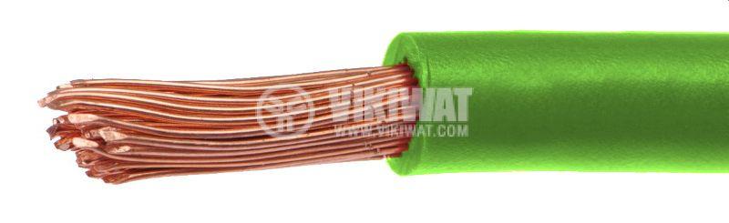 Проводник ПВ-А2 1x6mm2, зелен