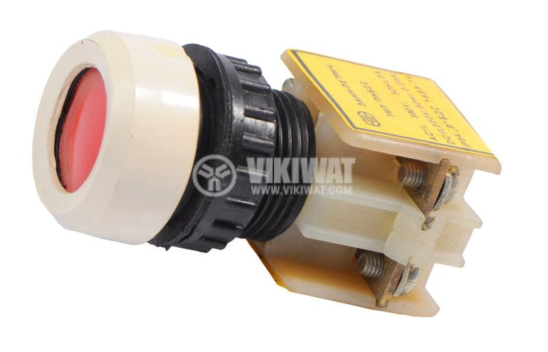 Push button, PKB 22-1-1, 380V, NO + NC red - 1
