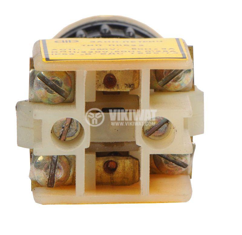 Push button, PKB 22-1-1, 380V, NO + NC red - 2