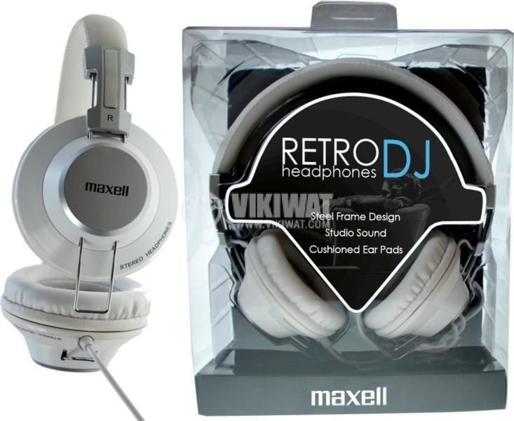 Headphones RetroDJ, stereo, stereo jack 3.5 mm with adapter 6.35 mm - 3