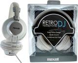 Слушалки RetroDJ, стерео жак 3.5 mm с адаптер 6.35 mm бели - 3