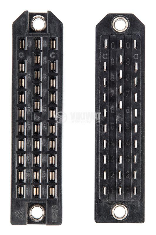 Съединител DS121-130.1-01, 30 пина, 350V, 10A, черен - 1