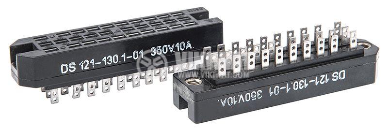 Съединител DS121-130.1-01, 30 пина, 350V, 10A, черен - 2