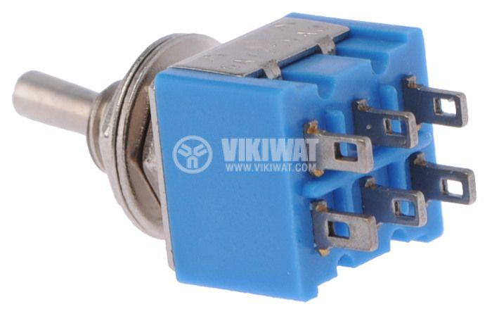 ЦК ключ MTS-202, 3А/250VAC, 6А/125VAC, DPDT, ON-ON - 2