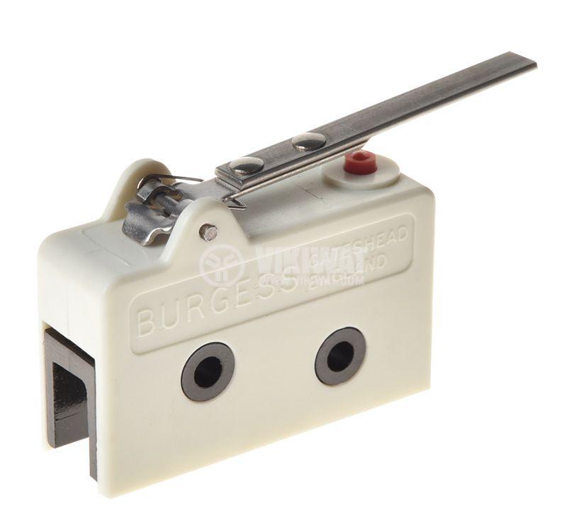 Micro switch BURGESS V13L, NO+NC, 10A/250VAC, lever - 2