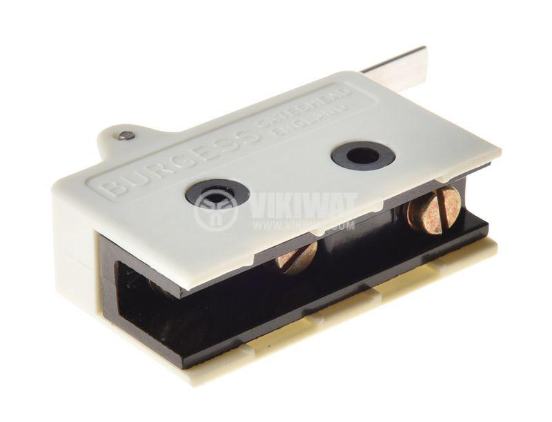 Micro switch BURGESS V13L, NO+NC, 10A/250VAC, lever - 3