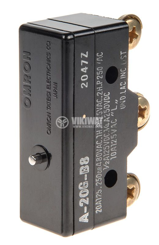 Limit Switch, AG-20G-B8, SPDT-NO+NC, 20A/380VAC, pusher - 1