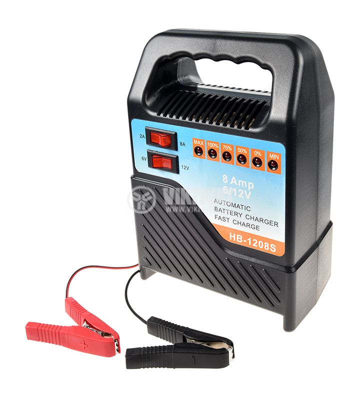 Battery charger, NB-1208S, 220VAC, 12VDC, 8A - 1