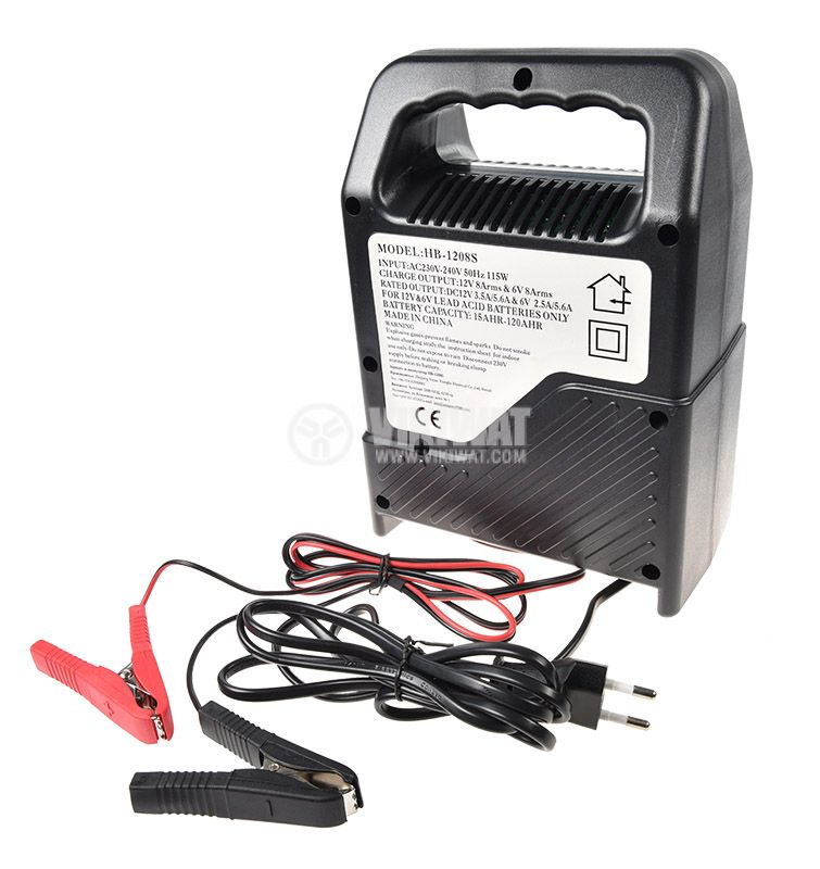 Battery charger, NB-1208S, 220VAC, 12VDC, 8A - 2